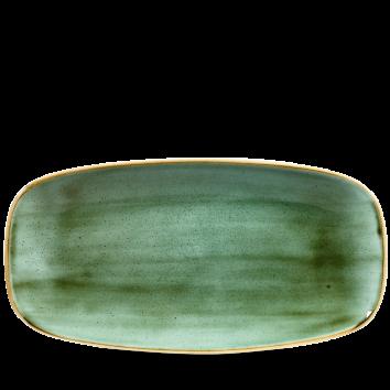 Stonecast Samphire Green chef`s oblong plate 29,8 x 15,3 cm