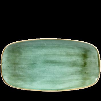 Stonecast Samphire Green chef`s oblong plate 35,5 x 18.9 cm