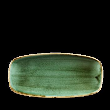 Stonecast Samphire Green chef`s oblong plate 26,9 x 12,7 cm