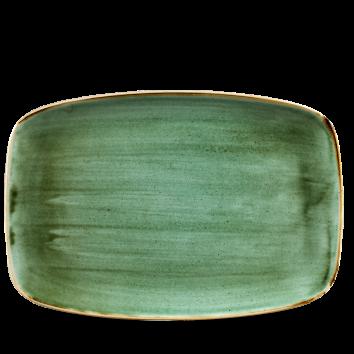 Stonecast Samphire Green chef`s oblong plate 35,5 x 24,5 cm