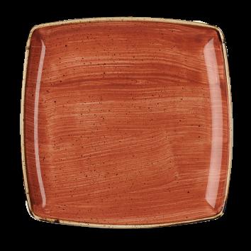 Stonecast Spiced Orange bord vierkant diep 26,8 cm