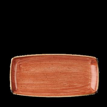 Stonecast Spiced Orange oblong plate 29,5 x 15 cm