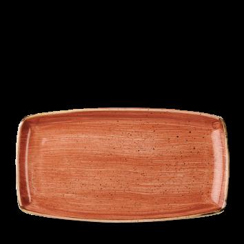 Stonecast Spiced Orange oblong plate 35 x 18,5 cm