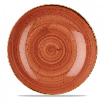 Stonecast Spiced Orange coupe bowl 31 cm