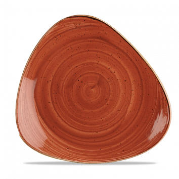 Stonecast Spiced Orange triangle bord 26,5 cm