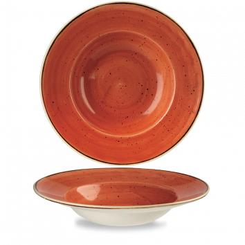 Stonecast Spiced Orange diep bord brede rand 28 cm