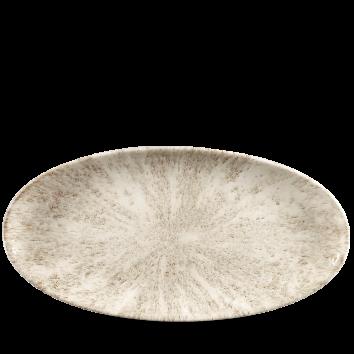Studio Prints Raku Stone Agate Grey chef`s ovaal bord 34,7 cm