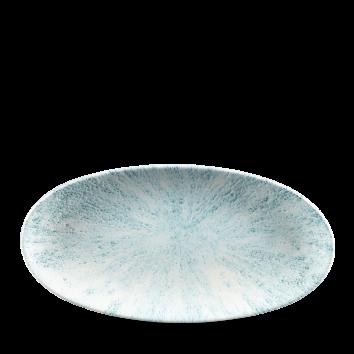 Studio Prints Raku Stone Aquamarine chef`s ovaal bord 29,9 cm