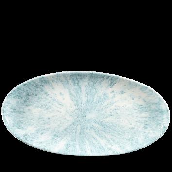 Studio Prints Raku Stone Aquamarine chef`s ovaal bord 34,7 cm