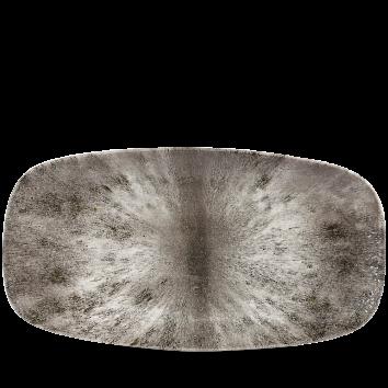 Studio Prints Raku Stone Quartz Black chef`s oblong plate 35,5 x 18,9 cm