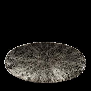 Studio Prints Raku Stone Quartz Black chef`s ovaal bord 29,9 cm