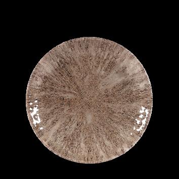 Studio Prints Raku Stone Zircon Brown coupe bord 16,5 cm