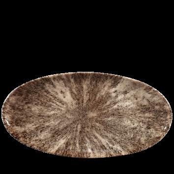 Studio Prints Raku Stone Zircon Brown chef`s ovaal bord 34,7 cm
