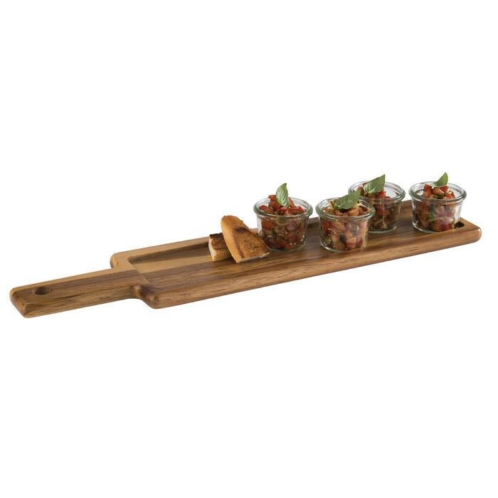 serveerplank met leisteen acacia 43x 12 x 2(h) cm