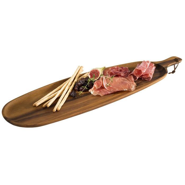 ovale plank met handvat acacia 51,5 x 18 x 1,5(h) cm