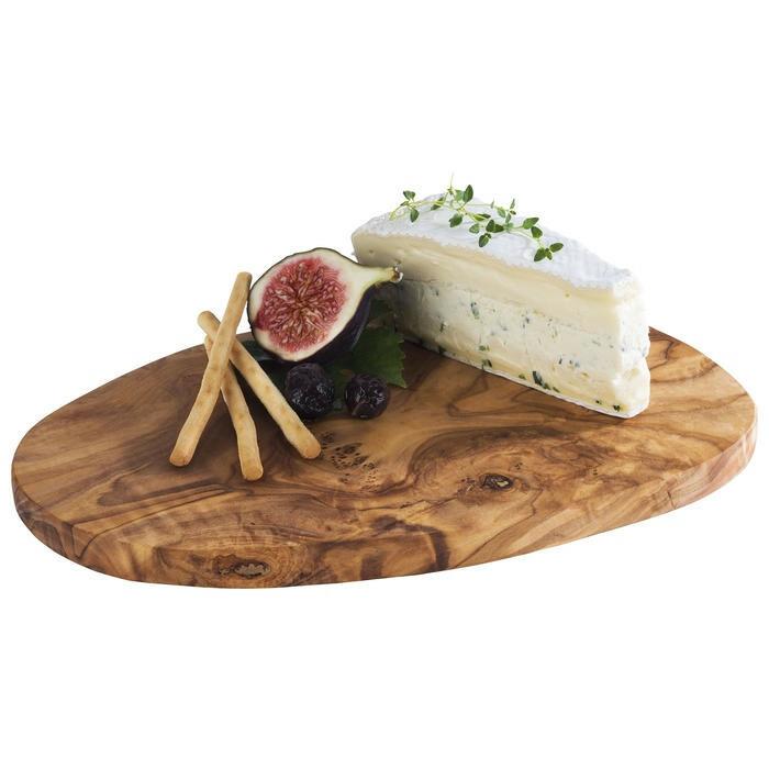 ovale plank Olive olijfboomhout 25,5 x 16,5 x 1,5(h) cm