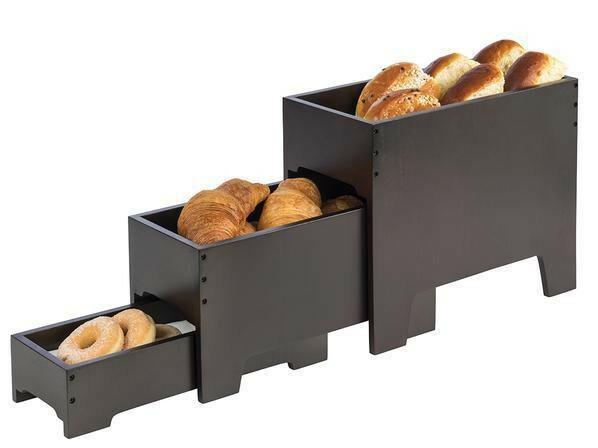 buffet display 3-delig wenge 40 x 20 x 33(h) cm