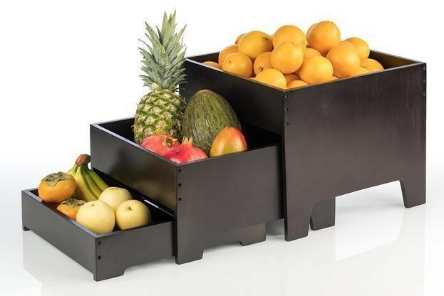 buffet display 3-delig wenge 40 x 40 x 33(h) cm