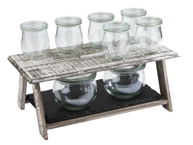 buffet riser Mini Vintage whitewash 40 x 21,5 x 15(h) cm