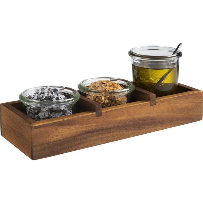 tafelcaddy Table acacia 23,5 x 8,5 x 4,5(h) cm