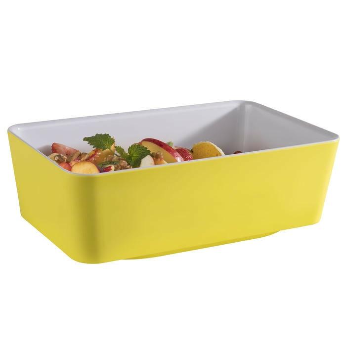 APS melamine Happy Buffet bowl 1/4 GN 26,5 x 16,2 x 9(h) cm geel