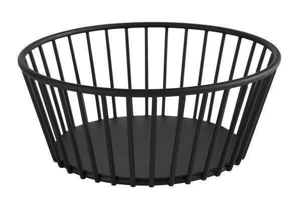 buffetkorf Urban metaal zwart 17 x 7(h) cm