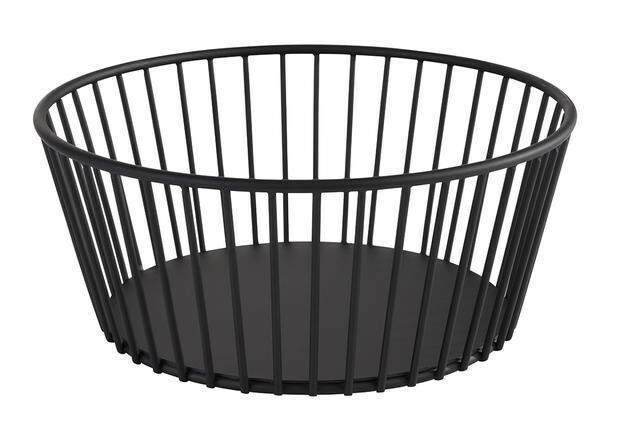buffetkorf Urban metaal zwart 20 x 8,5(h) cm