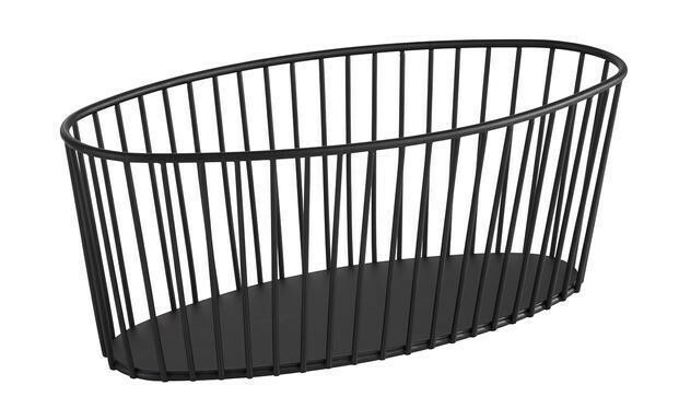 buffetkorf Urban metaal zwart 30 x 14 x 12(h) cm
