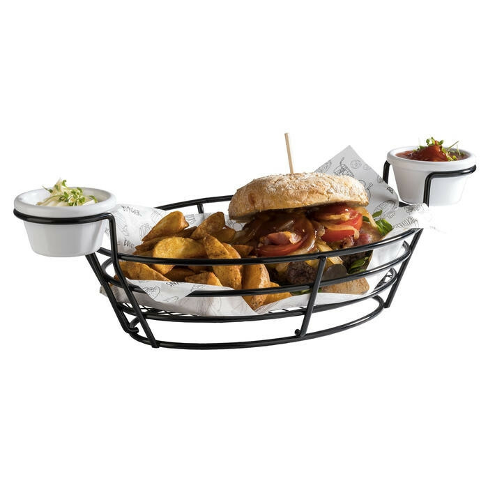 serveerkorf Burger & Fries 39,5 x 20 x 11(h) cm
