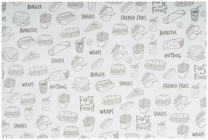 vetvrij papier Fast Food 30 x 20 cm DOOS 500