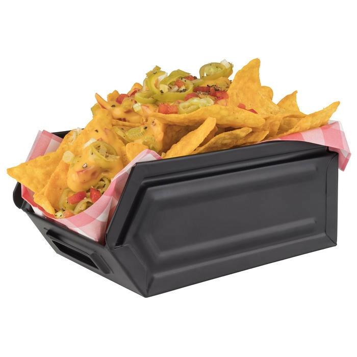 snackbox Industrial zwart metaal 16,5 x 10,5 x 7,5(h) cm