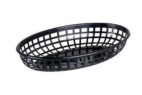 fastfood mandje ovaal 23 x 14 x 4(h) cm zwart DOOS 6
