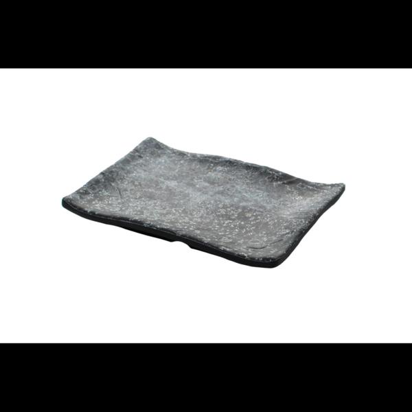 Cheforward Endure+ zwart gemarmerd rechthoekige schaal 28 x 19 cm