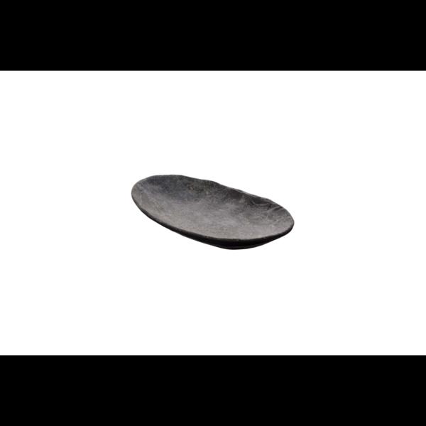 Cheforward Endure+ zwart gemarmerd ovale schaal 23 x 14 cm