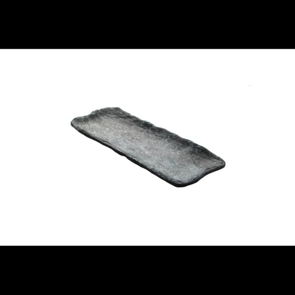 Cheforward Endure+ zwart gemarmerd rechthoekige schaal 23 x 11 cm
