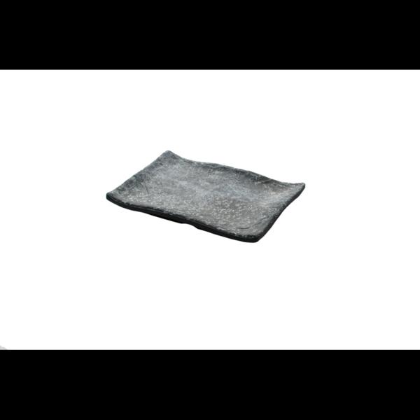 Cheforward Endure+ zwart gemarmerd rechthoekige schaal 13,5 x 10 cm