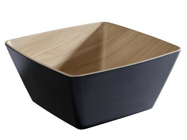 APS melamine Frida bowl 25 x 25 x 7,5(h) cm zwart