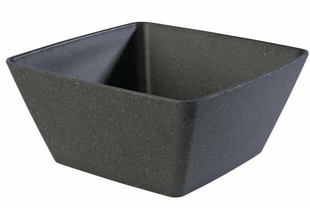 APS melamine Frida Stone bowl 25 x 25 x 7,5(h) cm