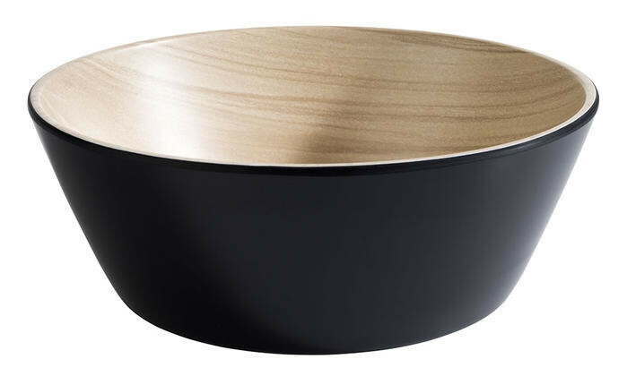 APS melamine Frida bowl Ø 20 x 7,5(h) cm zwart