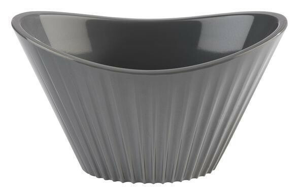 APS melamine Mini bowl ribbel 9,5 x 5,5 x 5,5(h) cm grijs