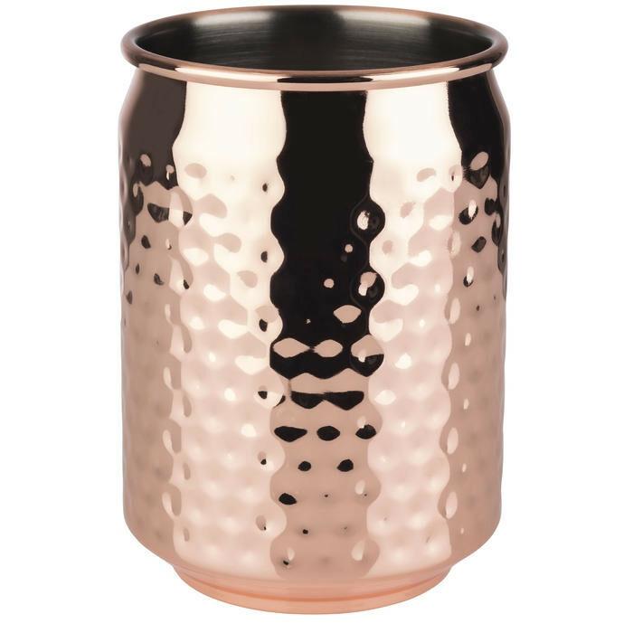 mug Cool edelstaal koper 7,5 x 10(h) cm