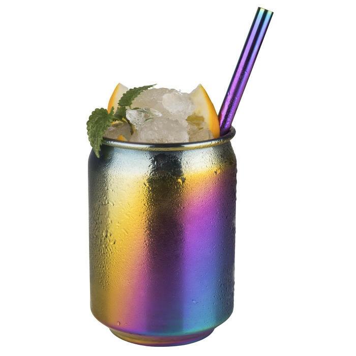mug Cool edelstaal rainbow 7,5 x 10(h) cm