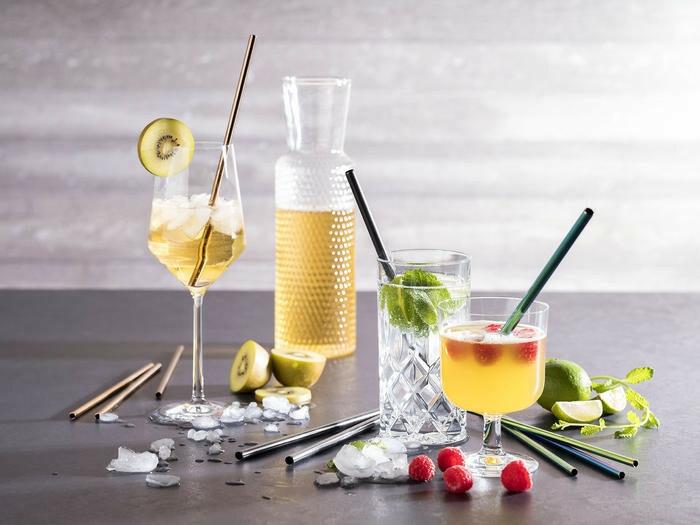 cocktail rietjes edelstaal koper Ø 0,6 x 21,5 cm DOOS 11