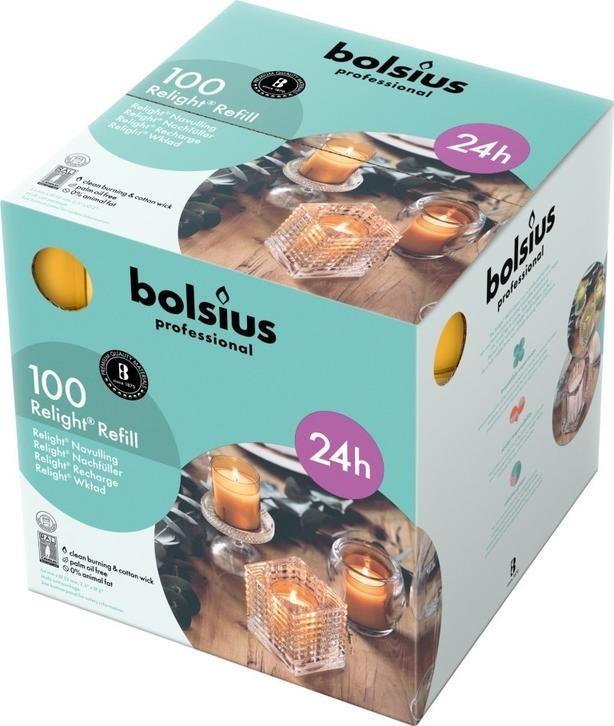 Bolsius ReLight Refill amber 24 uur DOOS 100