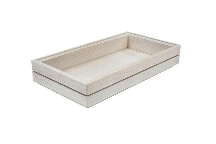 Ash 1/3 GN box medium stackable 32,5 x 17,6 x 4(h) cm