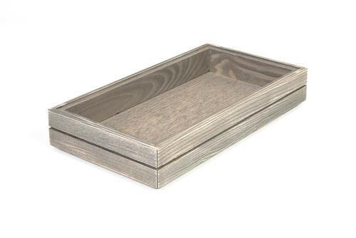 Driftwood 1/3 GN box medium stackable 32,5 x 17,6 x 4(h) cm