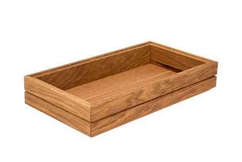 Oak linoil 1/3 GN box medium stackable 32,5 x 17,6 x 4(h) cm