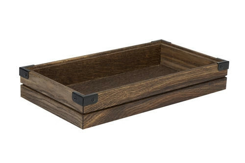 Chestnut 1/3 GN box medium stackable 32,5 x 17,6 x 4(h) cm