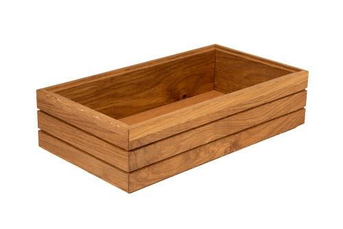 Oak linoil 1/3 GN box high stackable 32,5 x 17,6 x 8(h) cm