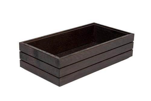 Black 1/3 GN box high stackable 32,5 x 17,6 x 8(h) cm
